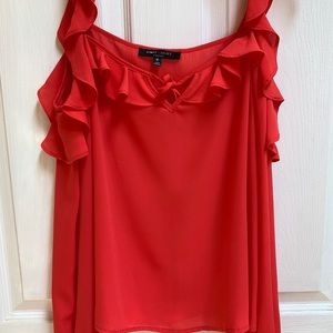 Romeo & Juliet couture ruffled cold shldr blouse